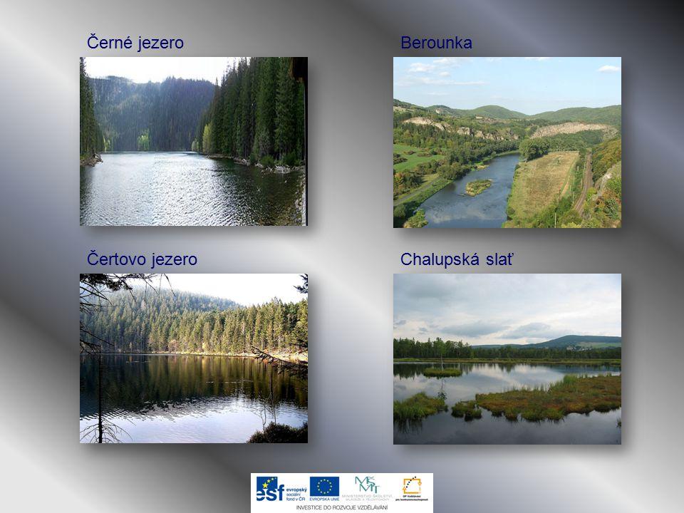 Černé jezero Berounka Čertovo jezero Chalupská slať