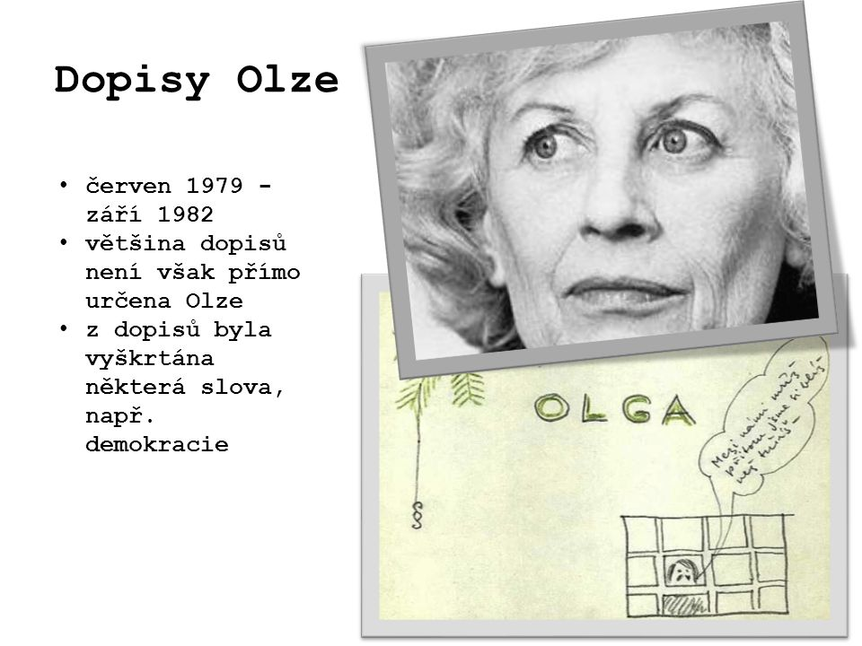 Dopisy Olze červen 1979 - září 1982