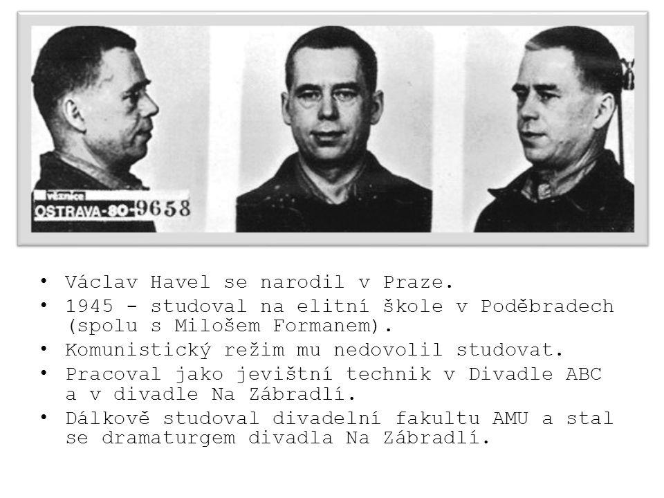 Václav Havel se narodil v Praze.
