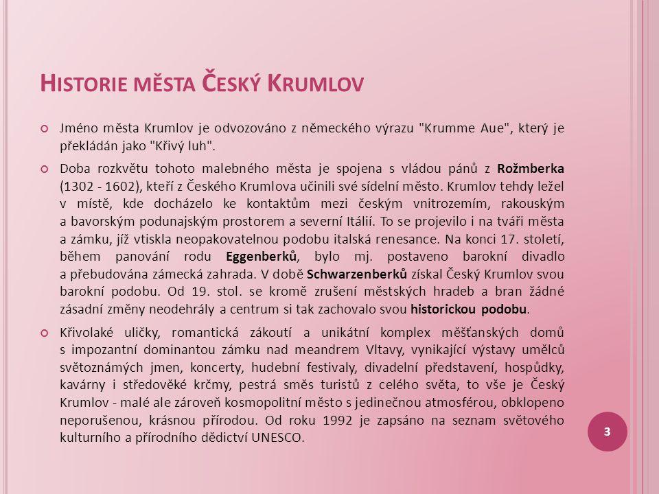 Historie města Český Krumlov