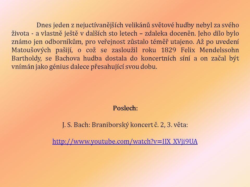 J. S. Bach: Braniborský koncert č. 2, 3. věta: