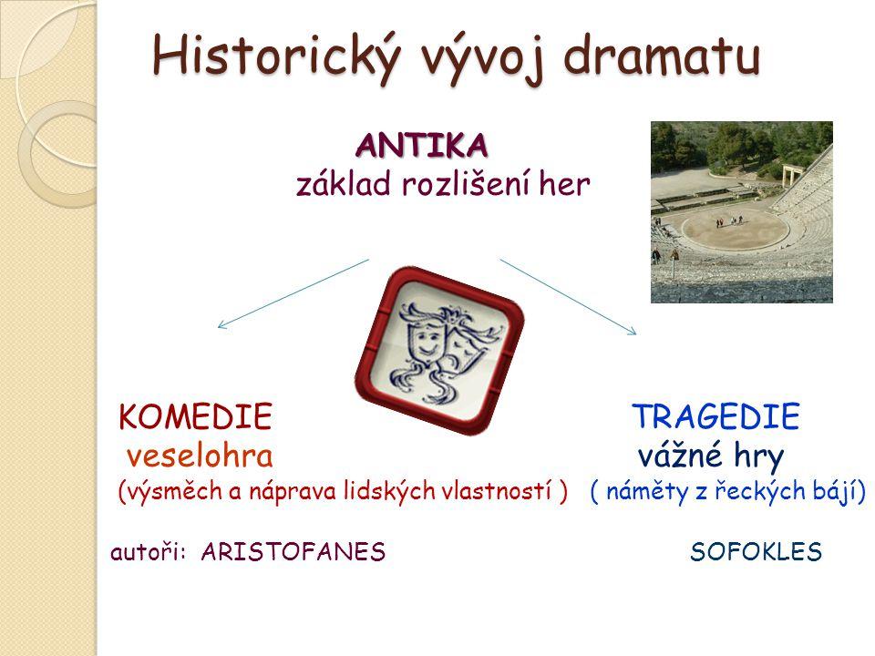 Historický vývoj dramatu