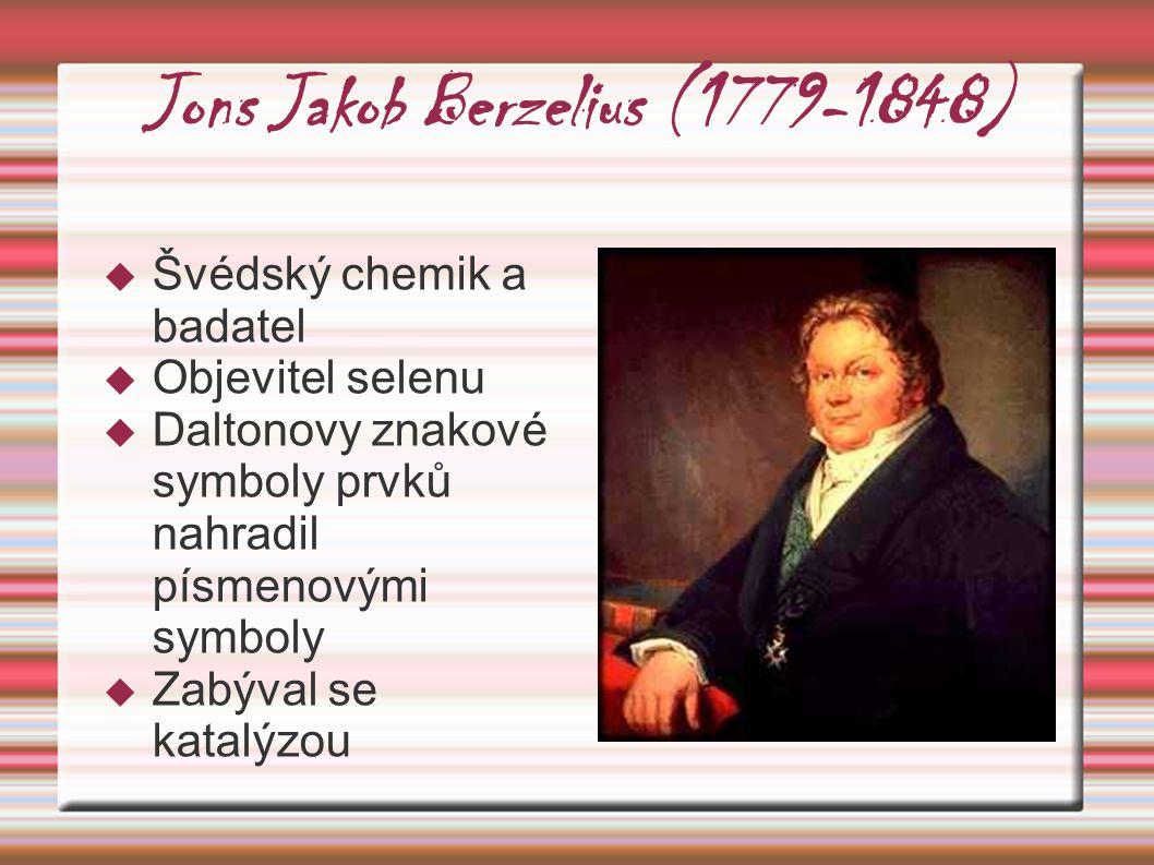 Jons Jakob Berzelius (1779-1848)