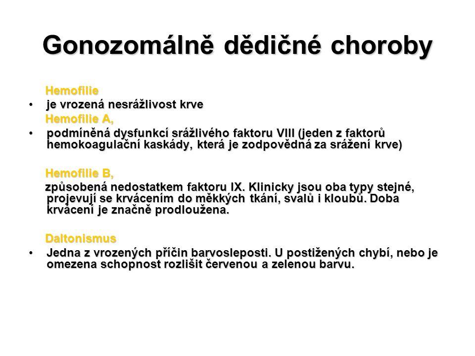 Gonozomálně dědičné choroby