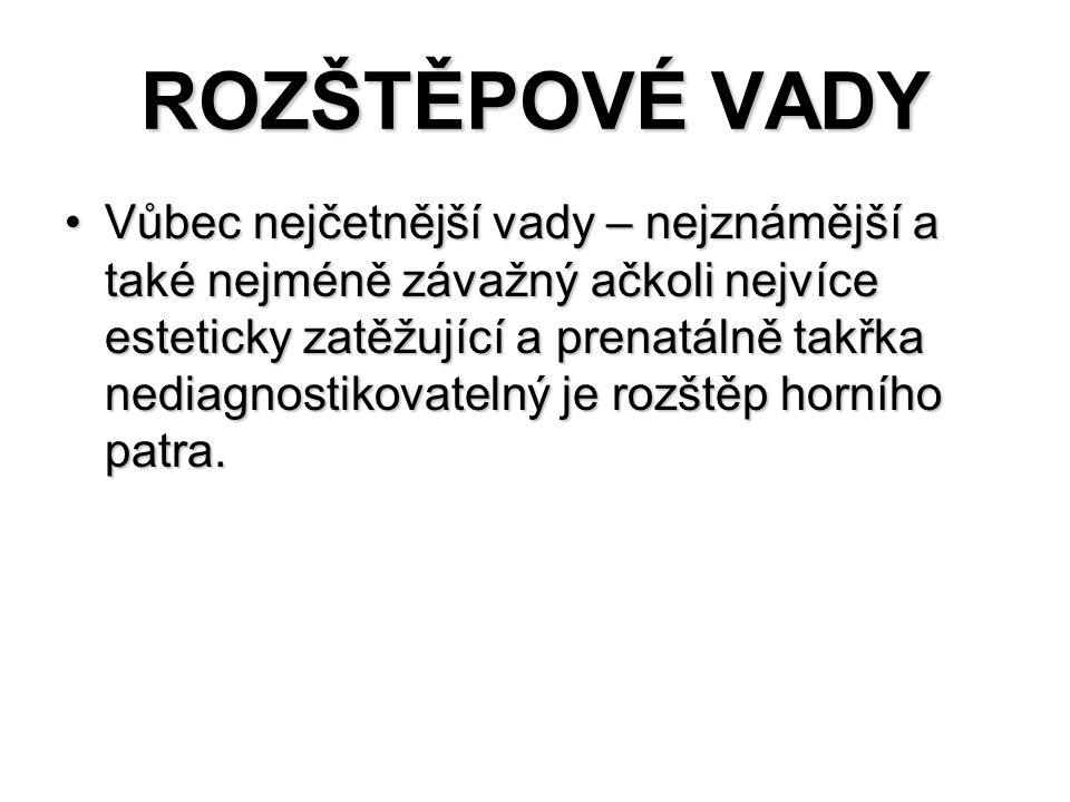 ROZŠTĚPOVÉ VADY