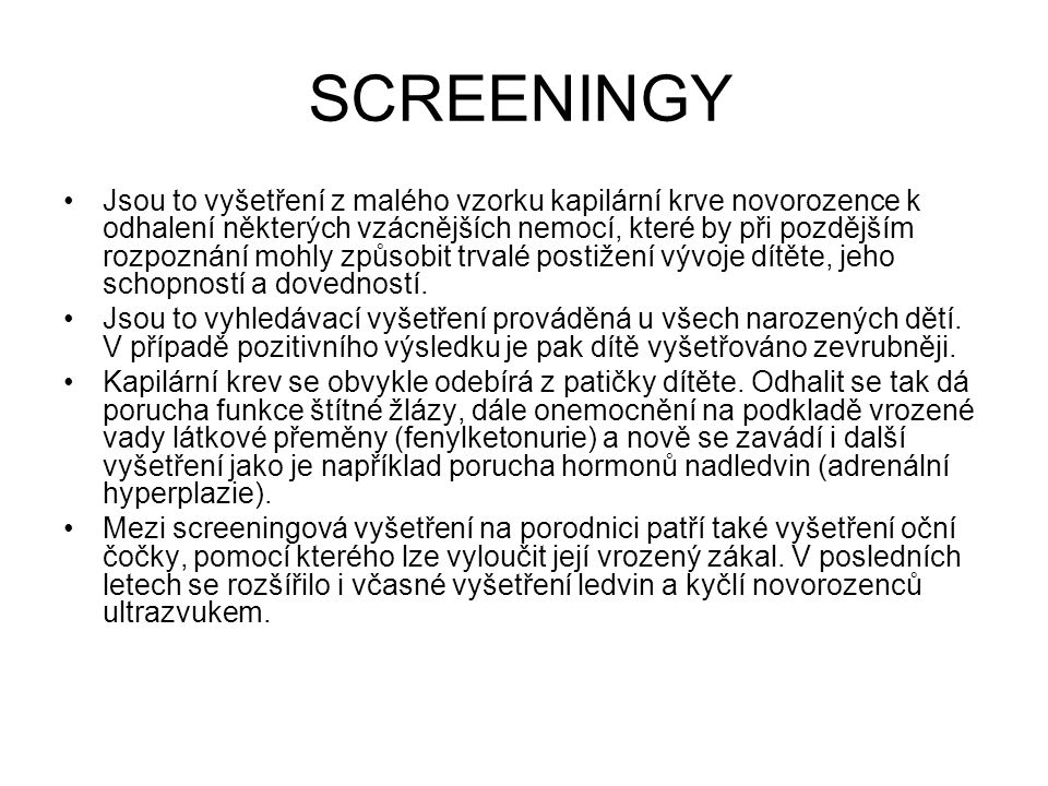 SCREENINGY