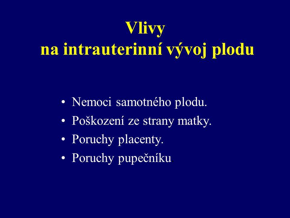Vlivy na intrauterinní vývoj plodu
