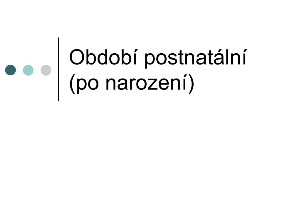 Období postnatální (po narození)