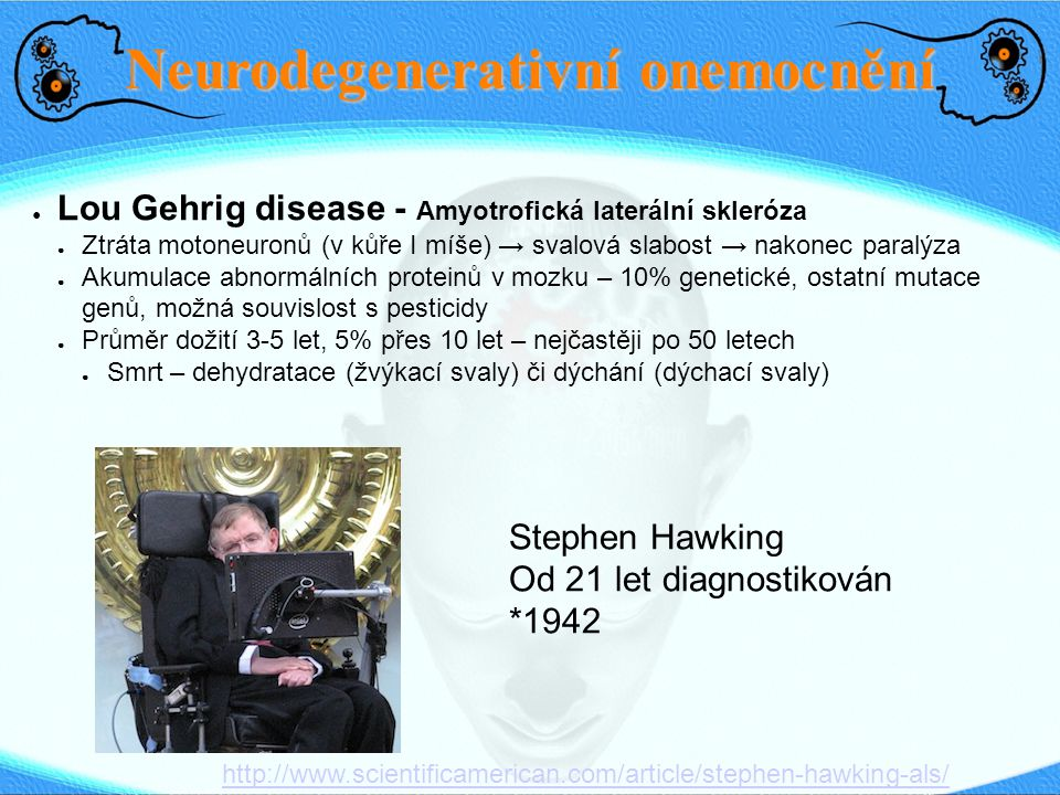 Neurodegenerativní onemocnění