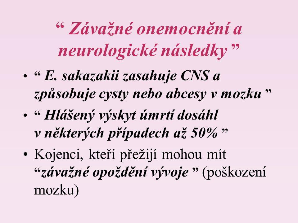 Závažné onemocnění a neurologické následky