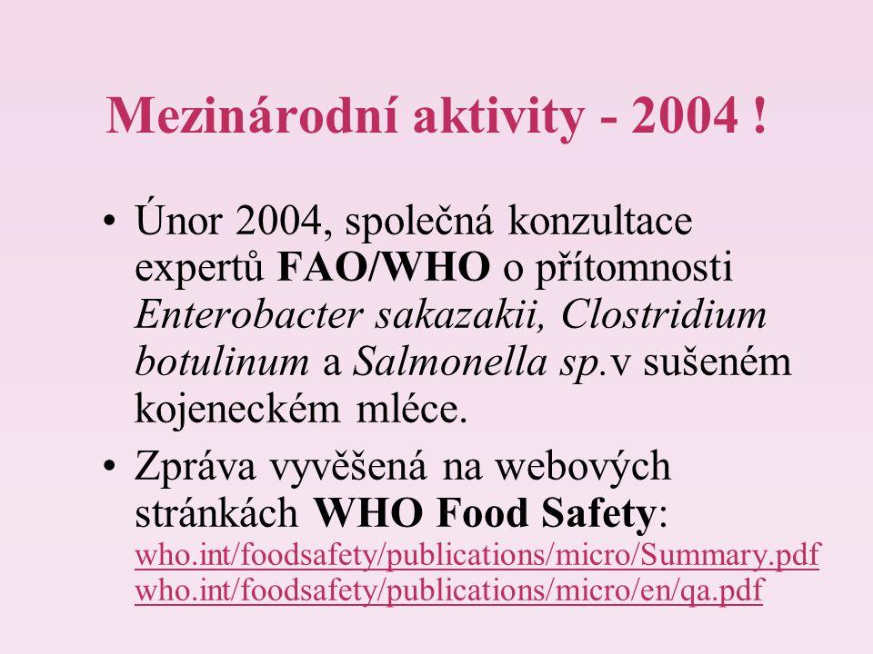 Mezinárodní aktivity - 2004 !