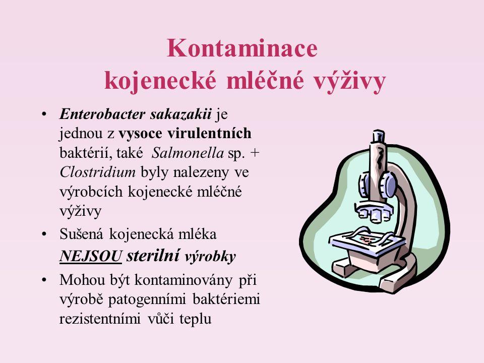 Kontaminace kojenecké mléčné výživy