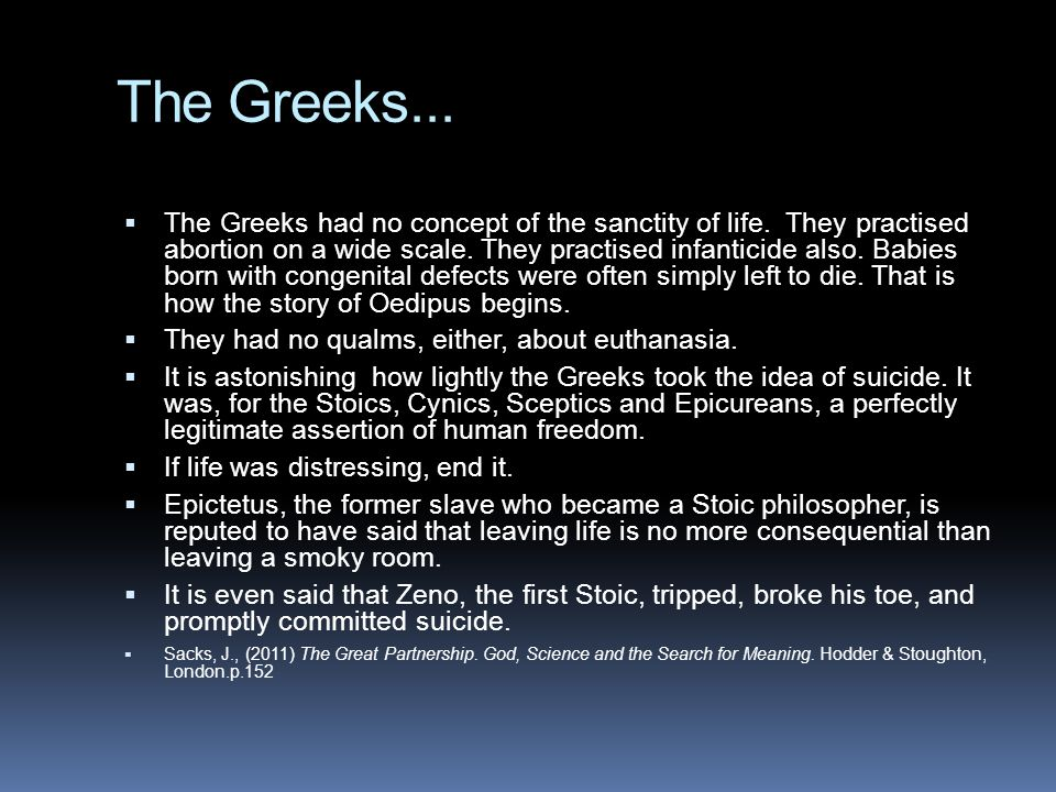 The Greeks...