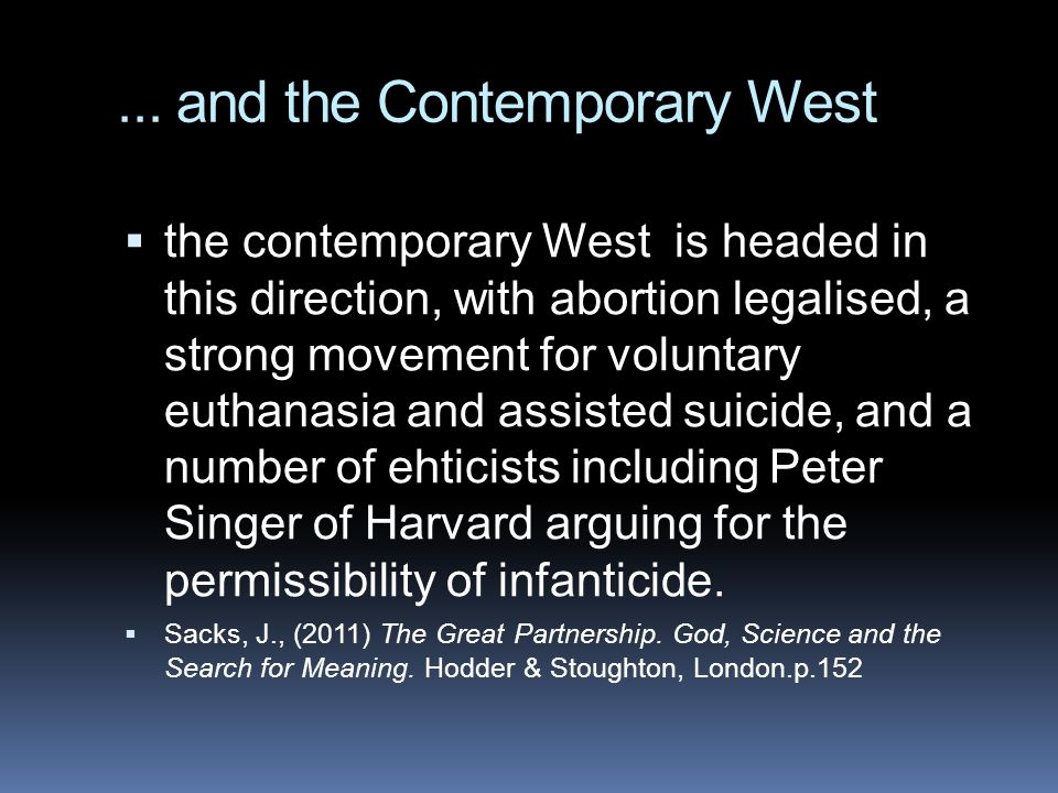 ... and the Contemporary West