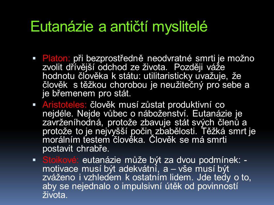 Eutanázie a antičtí myslitelé