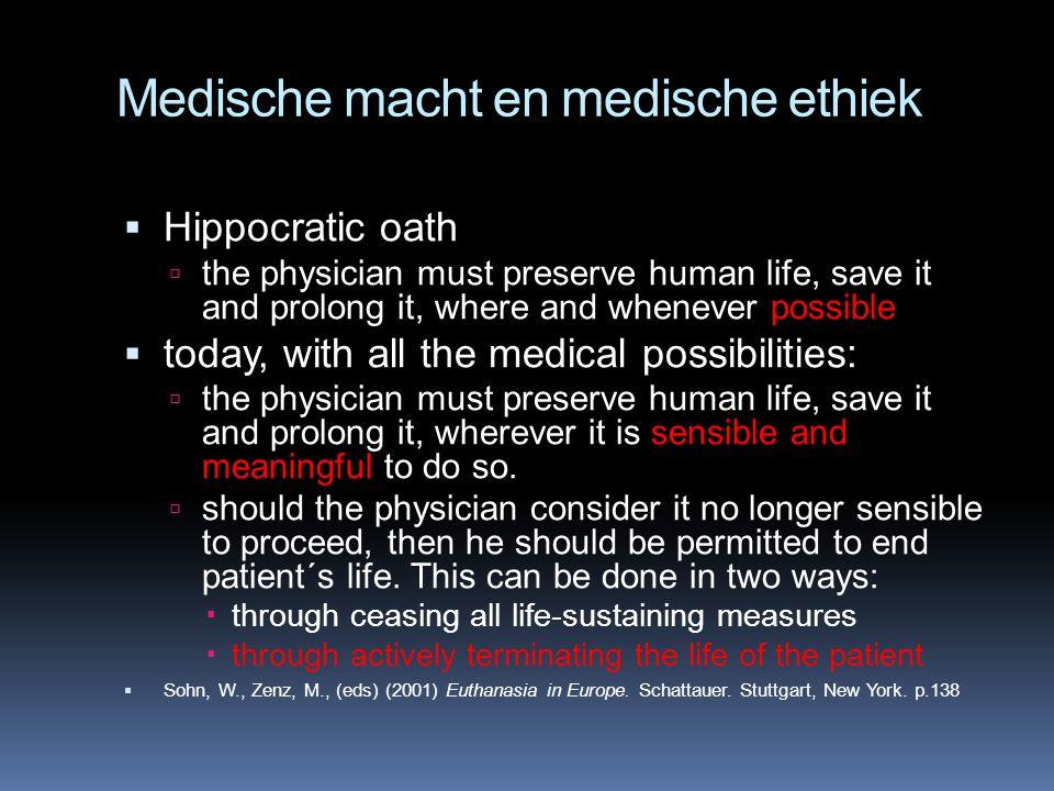 Medische macht en medische ethiek