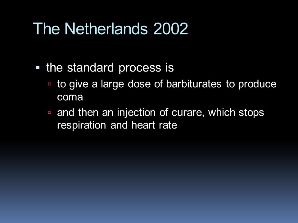 The Netherlands 2002 the standard process is