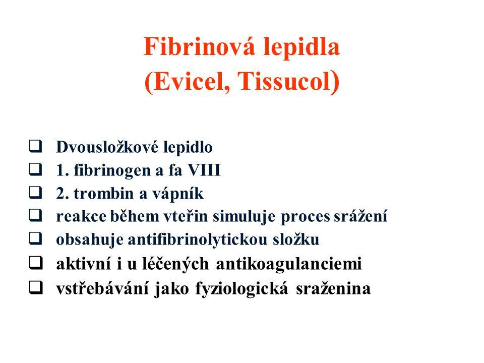 Fibrinová lepidla (Evicel, Tissucol)