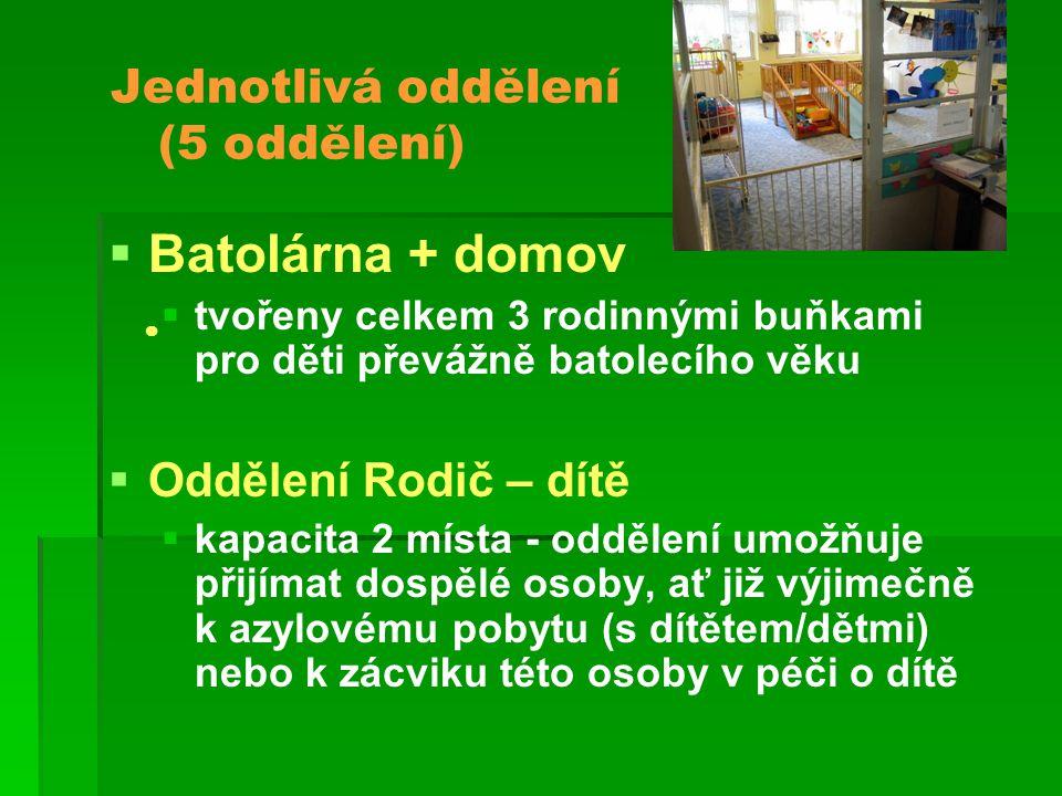Jednotlivá oddělení (5 oddělení)