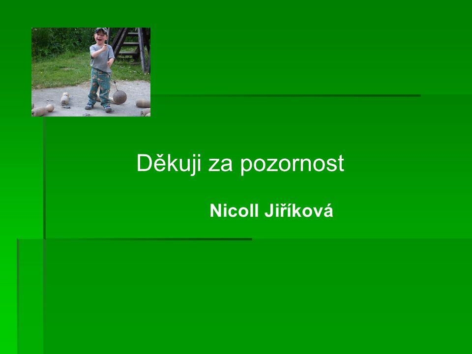 Děkuji za pozornost Nicoll Jiříková