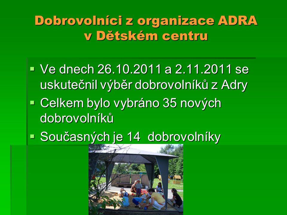 Dobrovolníci z organizace ADRA v Dětském centru