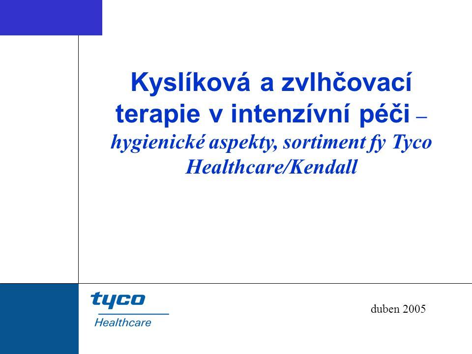 Kyslíková a zvlhčovací terapie v intenzívní péči – hygienické aspekty, sortiment fy Tyco Healthcare/Kendall