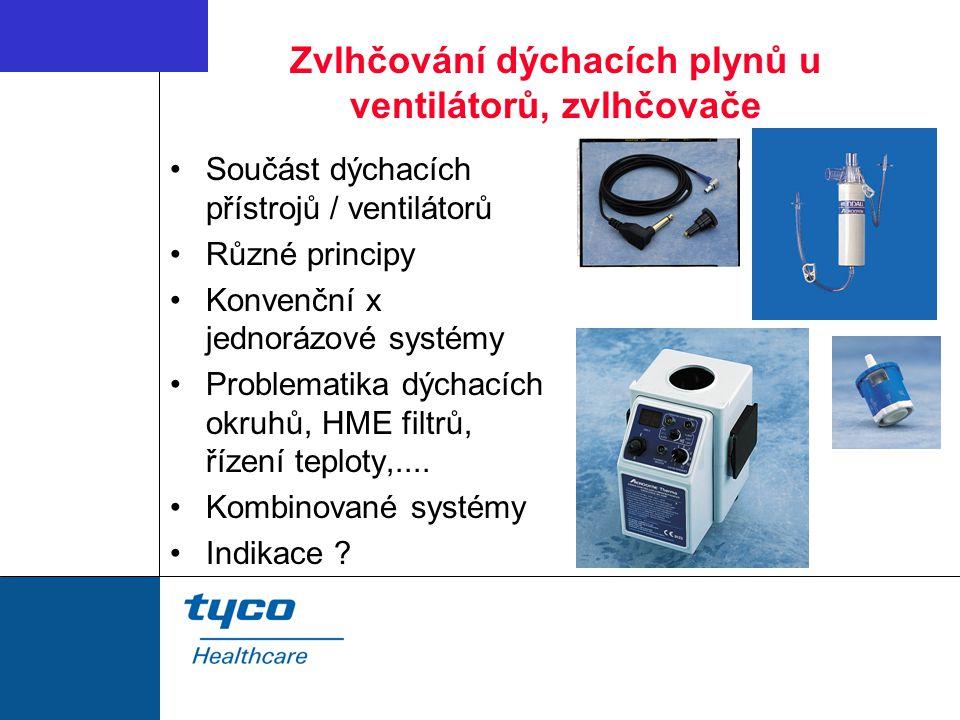 Zvlhčování dýchacích plynů u ventilátorů, zvlhčovače