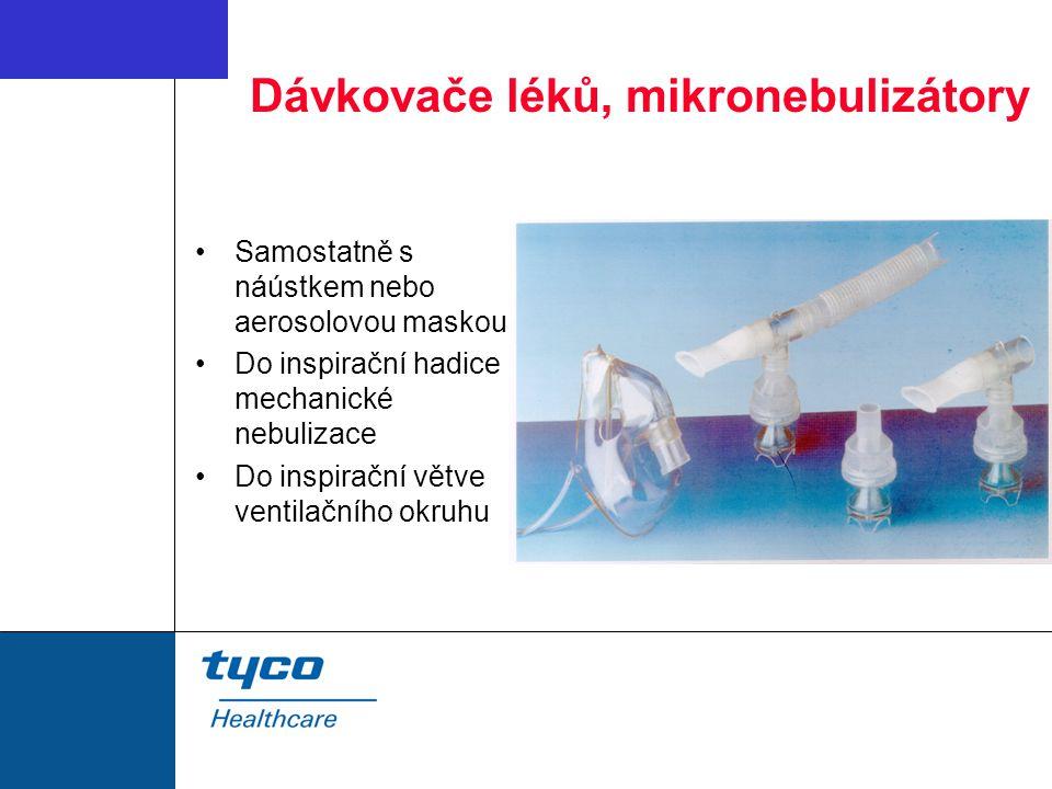 Dávkovače léků, mikronebulizátory