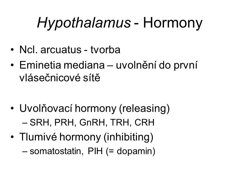 Hypothalamus - Hormony