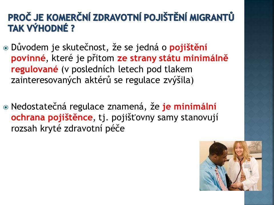 Proč je komerční zdravotní pojištění migrantů tak výhodné