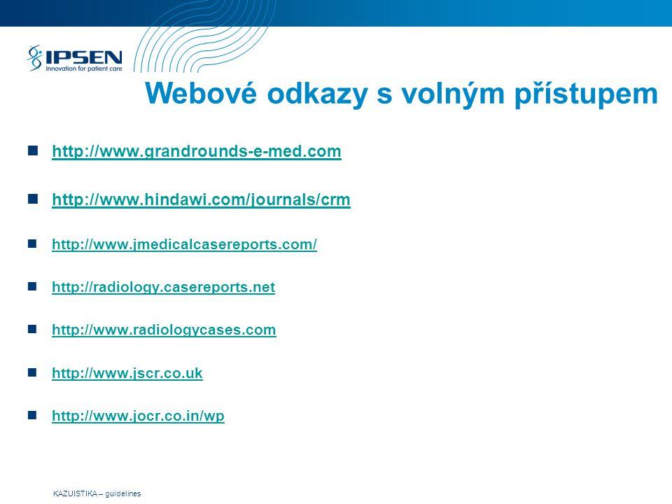 Webové odkazy s volným přístupem