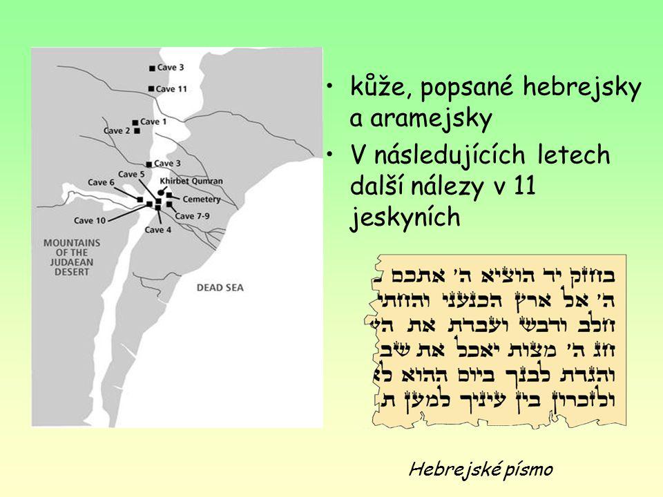 kůže, popsané hebrejsky a aramejsky