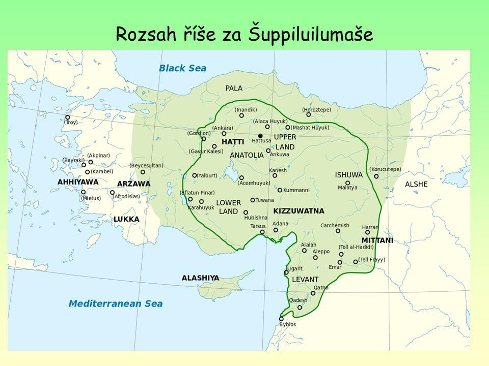 Rozsah říše za Šuppiluilumaše