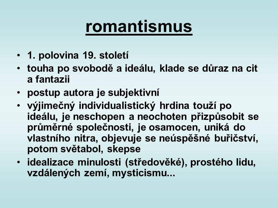 romantismus 1. polovina 19. století