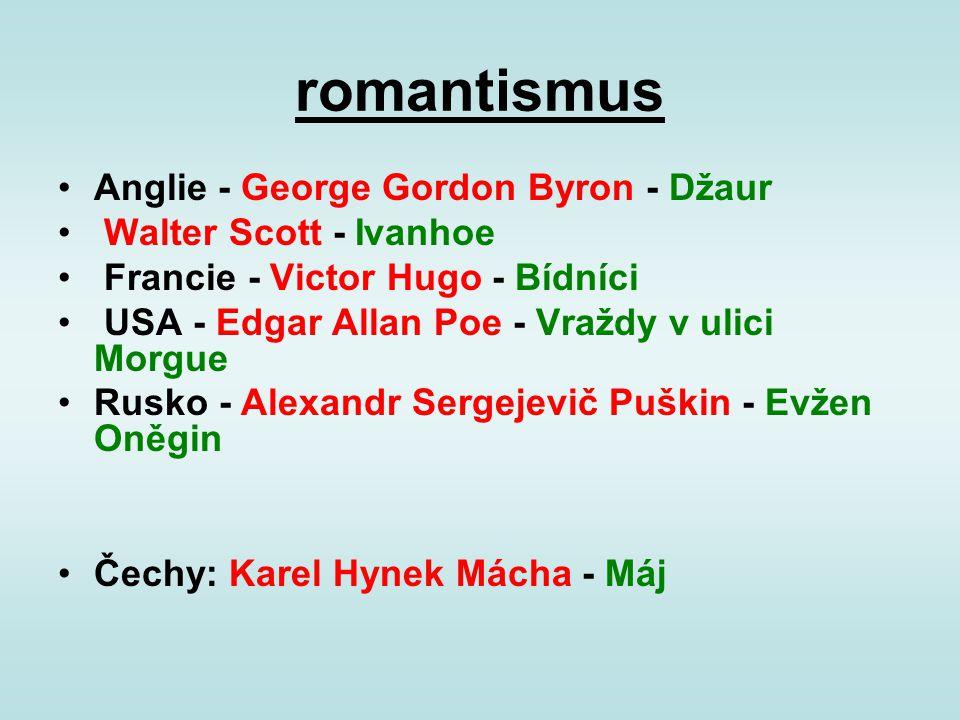 romantismus Anglie - George Gordon Byron - Džaur