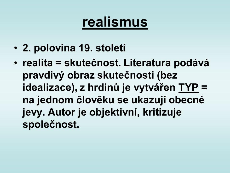 realismus 2. polovina 19. století