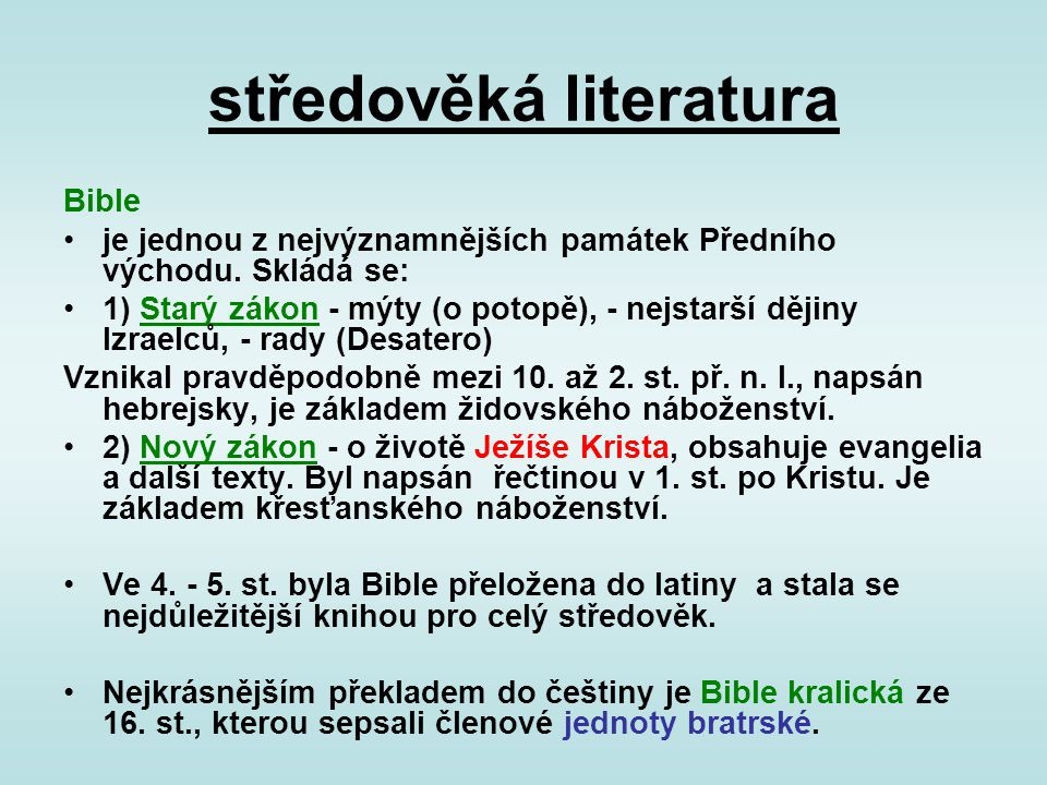 středověká literatura