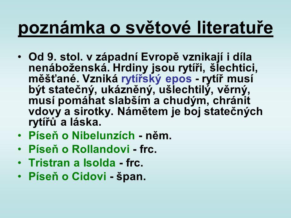 poznámka o světové literatuře
