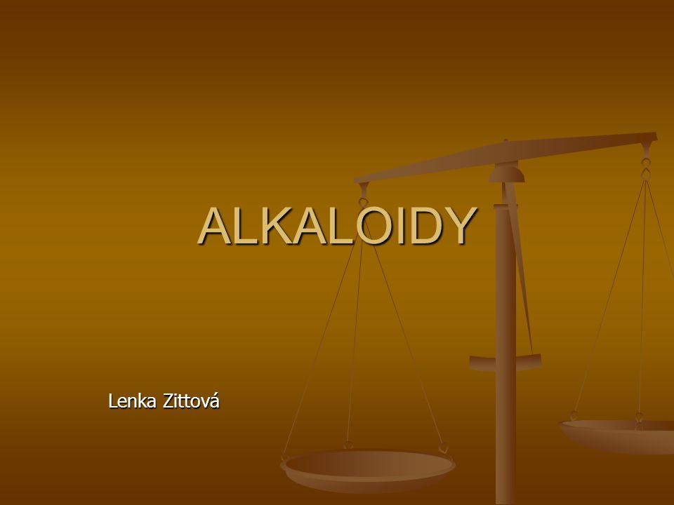 ALKALOIDY Lenka Zittová
