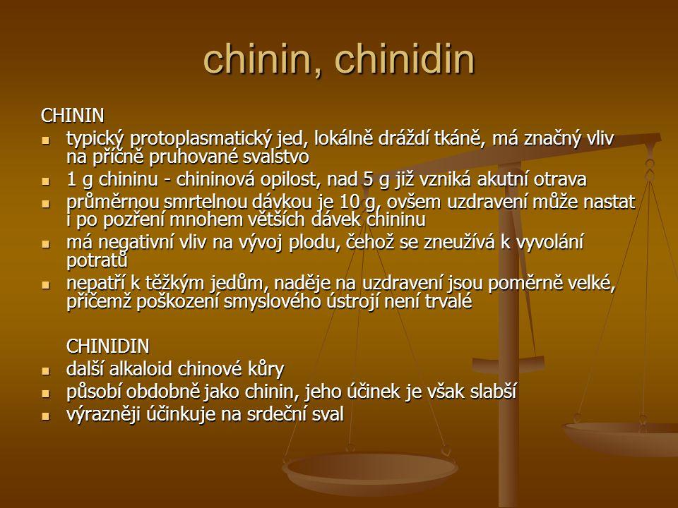 chinin, chinidin CHININ