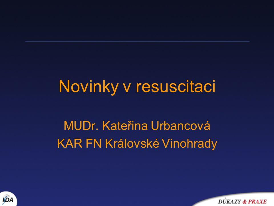 MUDr. Kateřina Urbancová KAR FN Královské Vinohrady