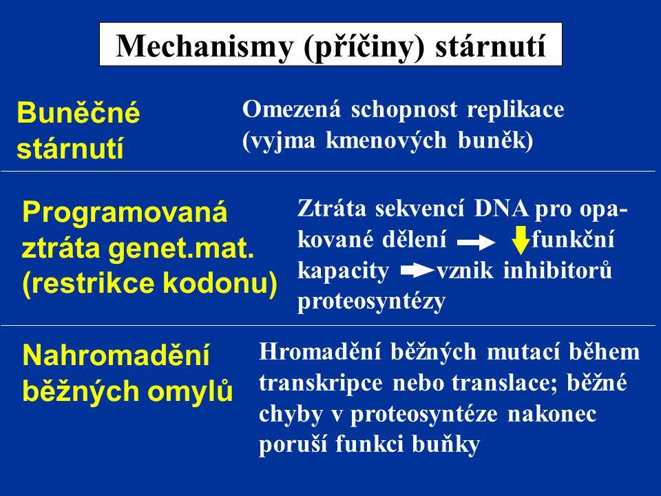 Mechanismy (příčiny) stárnutí