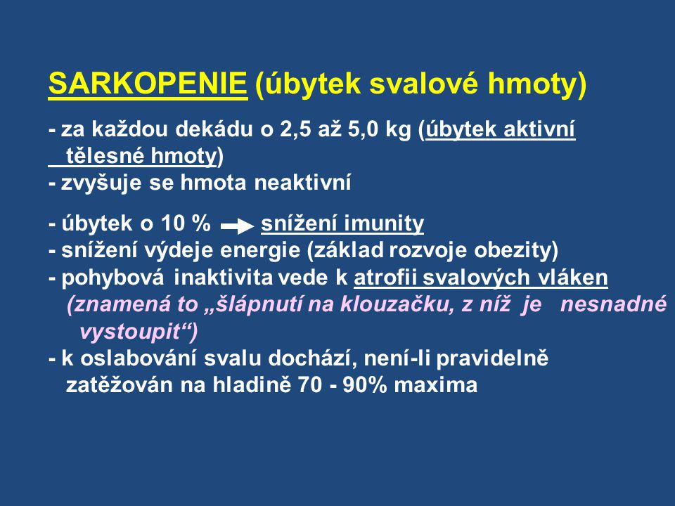 SARKOPENIE (úbytek svalové hmoty)