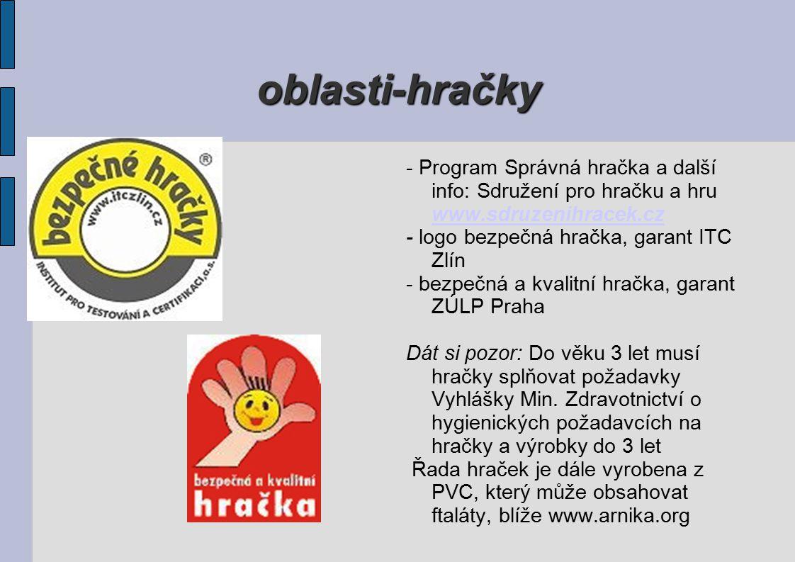 oblasti-hračky - Program Správná hračka a další info: Sdružení pro hračku a hru www.sdruzenihracek.cz.