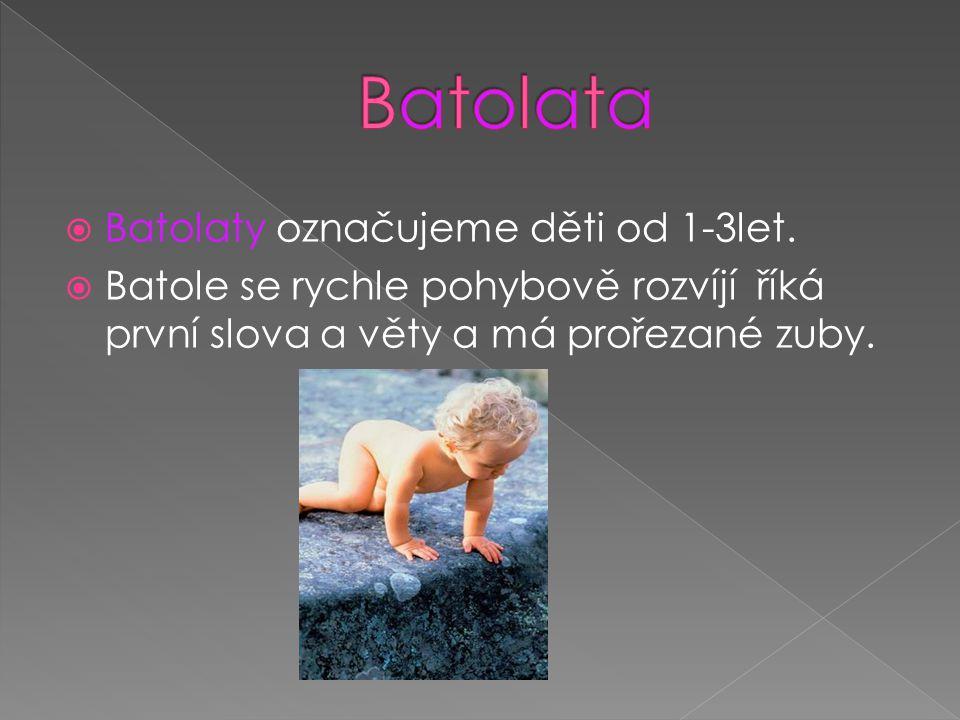 Batolata Batolaty označujeme děti od 1-3let.