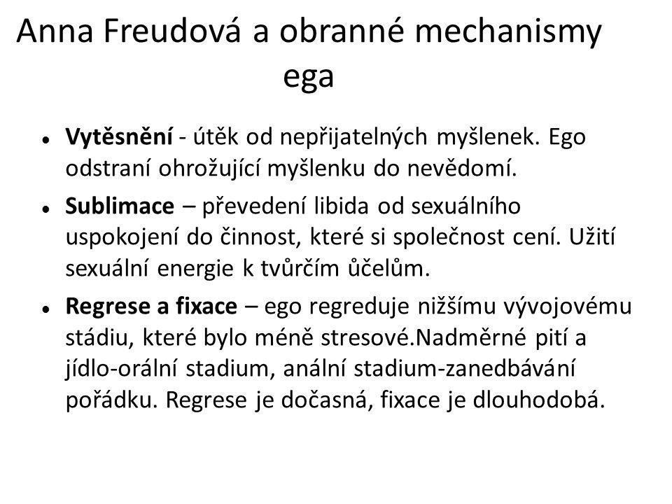 Anna Freudová a obranné mechanismy ega
