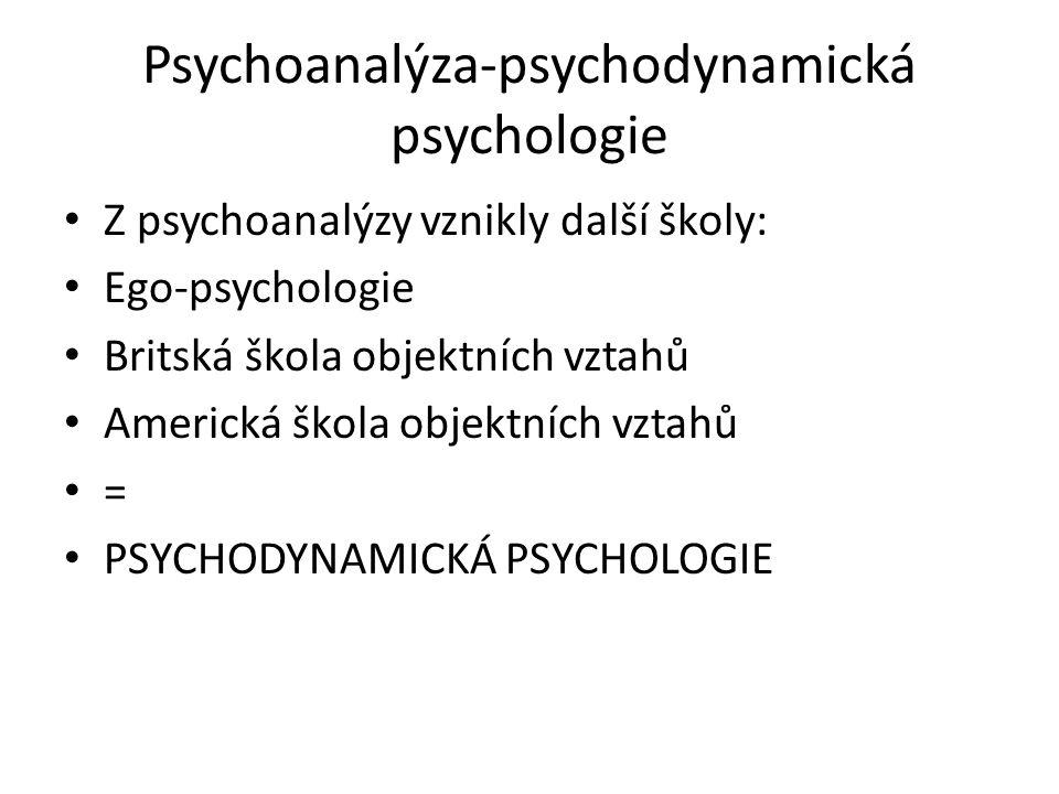 Psychoanalýza-psychodynamická psychologie