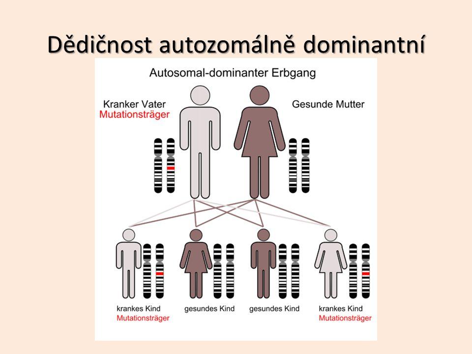 Dědičnost autozomálně dominantní