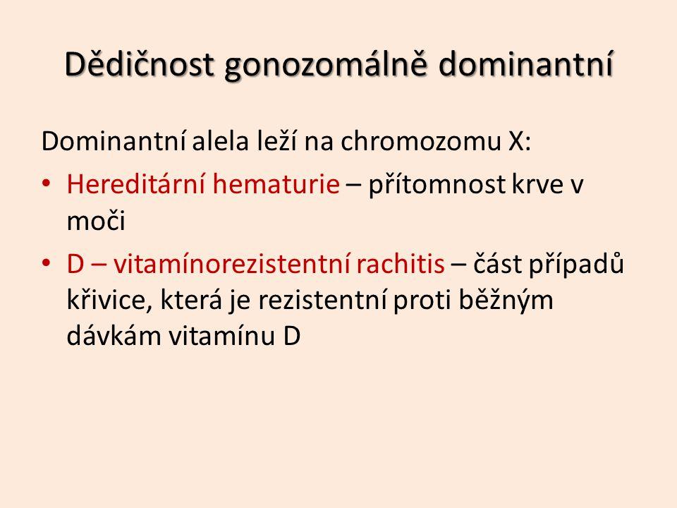 Dědičnost gonozomálně dominantní