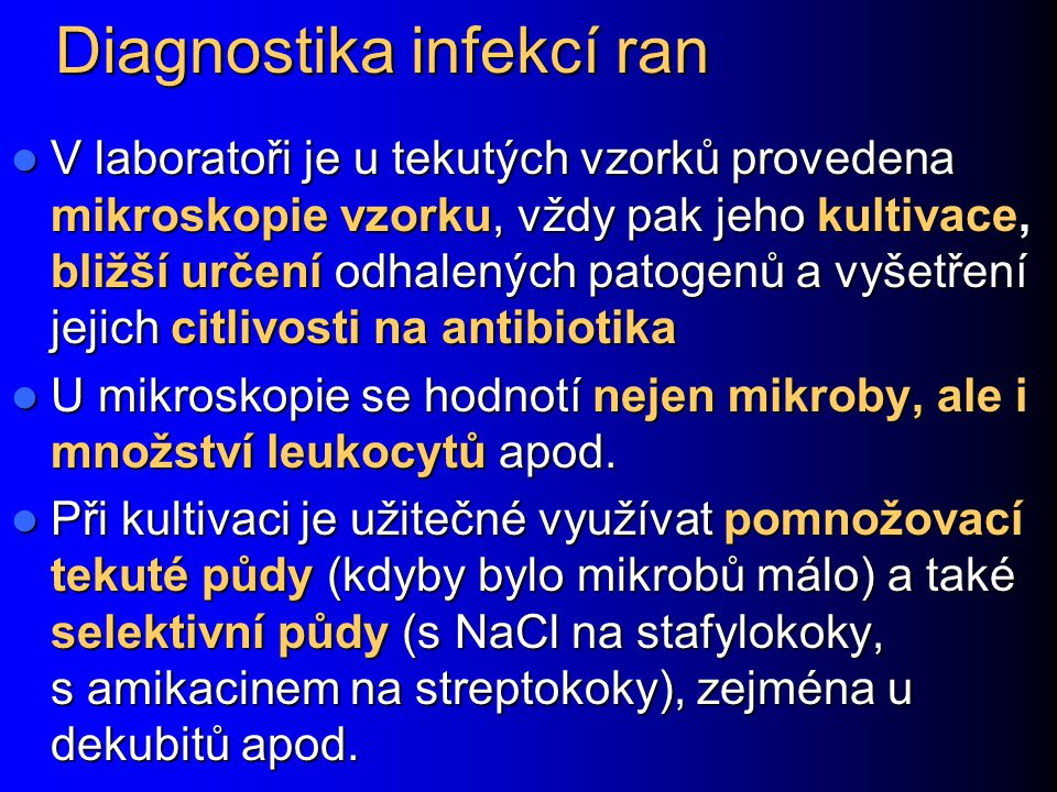 Diagnostika infekcí ran